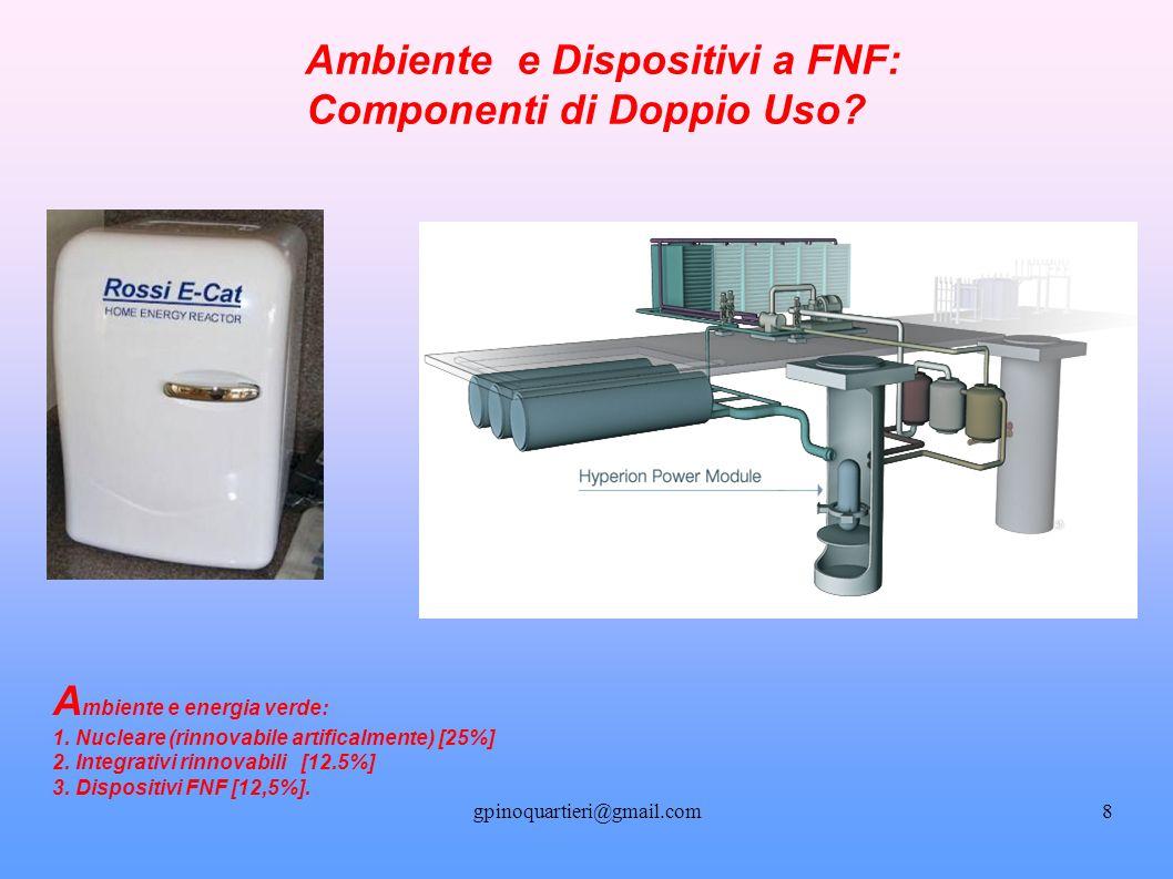 gpinoquartieri@gmail.com8 Ambiente e Dispositivi a FNF: Componenti di Doppio Uso.