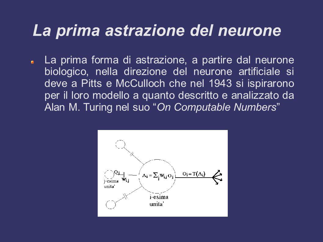 Un po di storia STORIA DEL CONNESSIONISMO Anni Trenta: Norbert Wiener fonda la Cibernetica, ispirandosi alle analogie tra sistemi naturali e sistemi Artificiali.