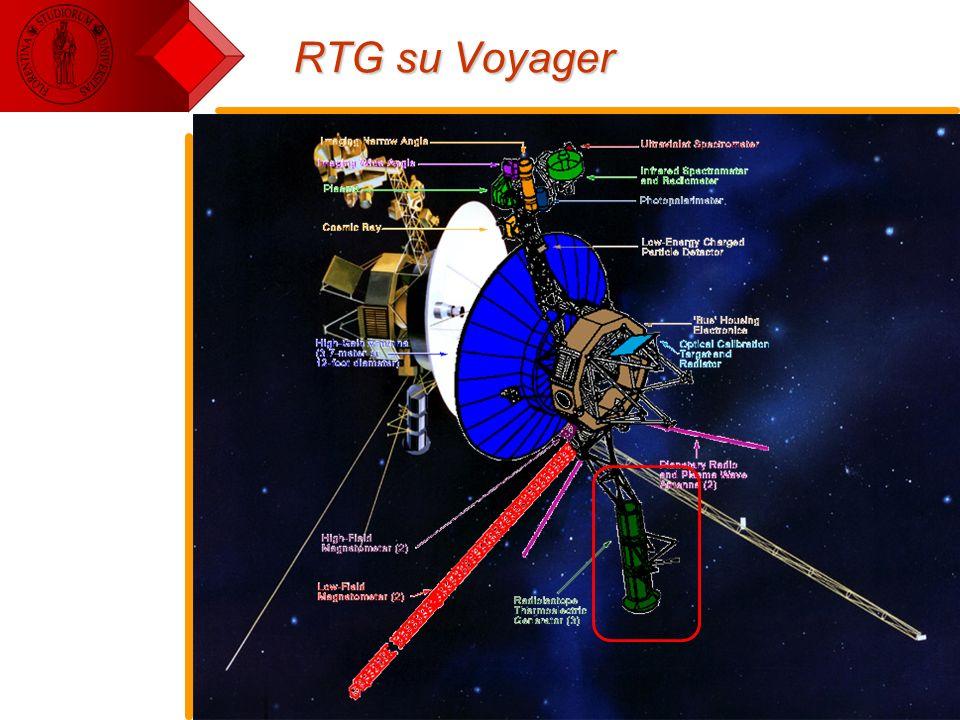 E. Pace - Tecnologie Spaziali17 RTG su Voyager