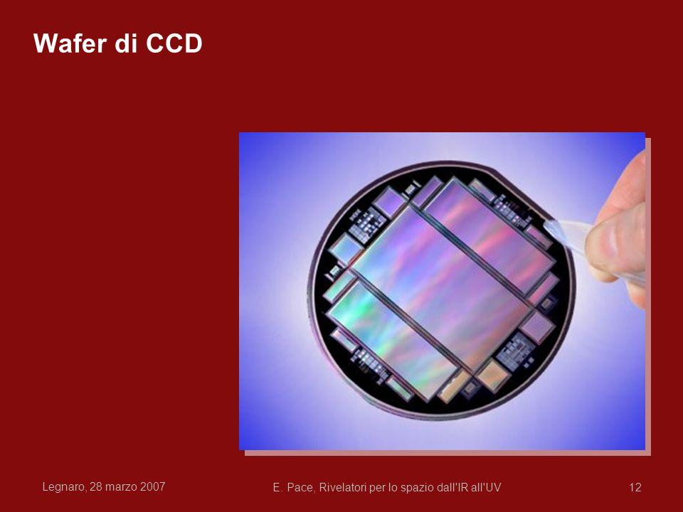 Legnaro, 28 marzo 2007 E. Pace, Rivelatori per lo spazio dall'IR all'UV12 Wafer di CCD