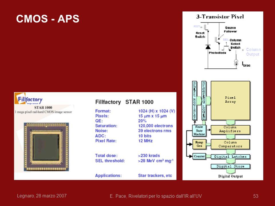 Legnaro, 28 marzo 2007 E. Pace, Rivelatori per lo spazio dall'IR all'UV53 CMOS - APS