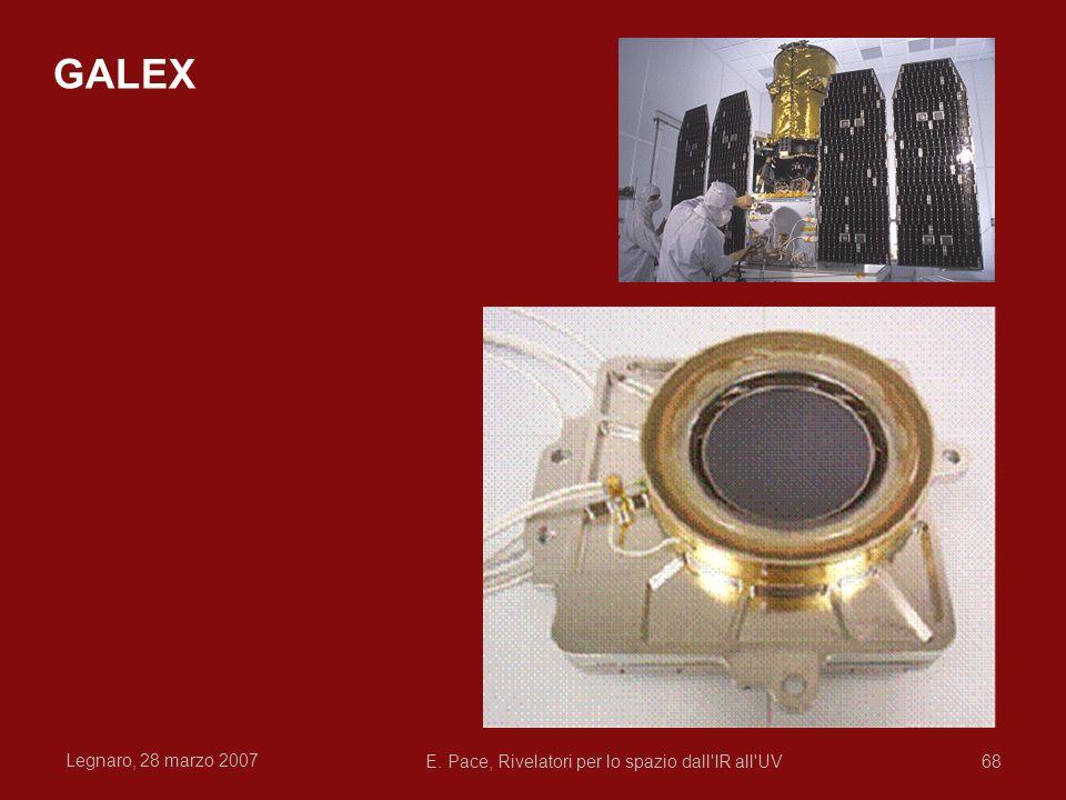 Legnaro, 28 marzo 2007 E. Pace, Rivelatori per lo spazio dall'IR all'UV68 GALEX