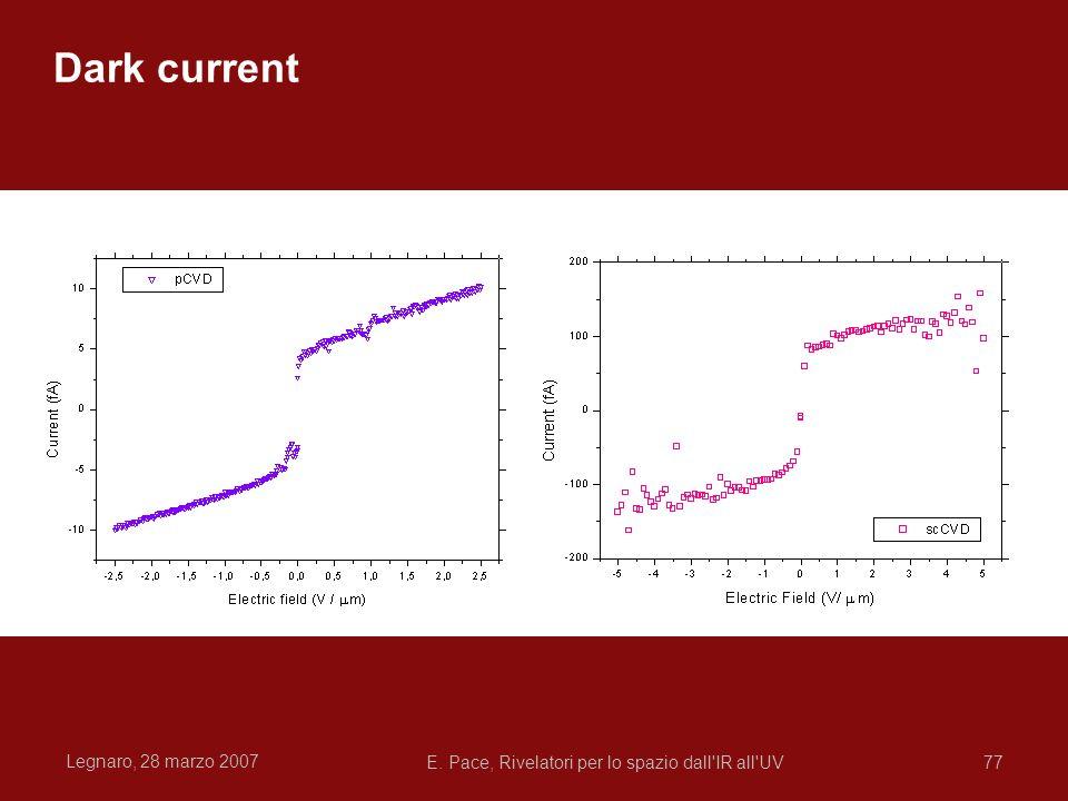 Legnaro, 28 marzo 2007 E. Pace, Rivelatori per lo spazio dall'IR all'UV77 Dark current