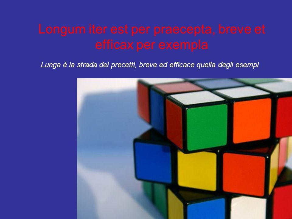 Longum iter est per praecepta, breve et efficax per exempla Lunga è la strada dei precetti, breve ed efficace quella degli esempi
