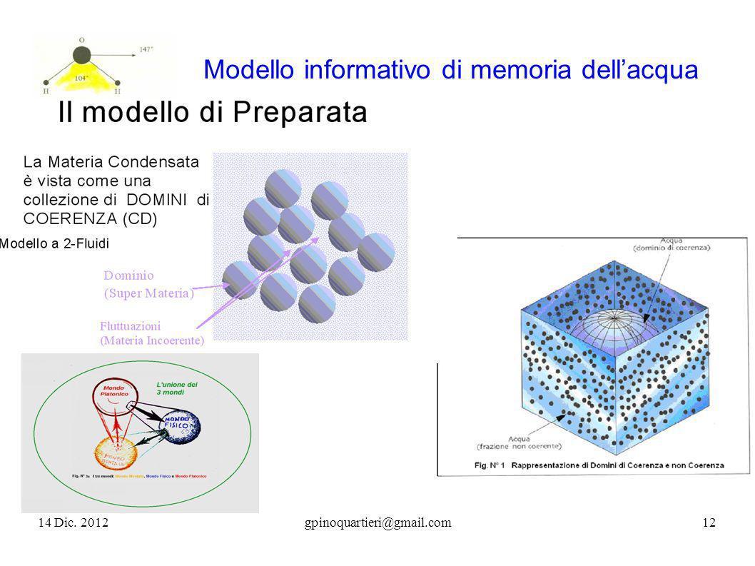 Modello informativo di memoria dellacqua 14 Dic. 201212gpinoquartieri@gmail.com