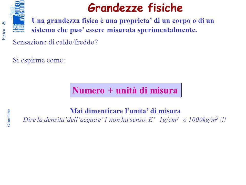 Fisica - M.Obertino Unita di misura del tempo S.I.