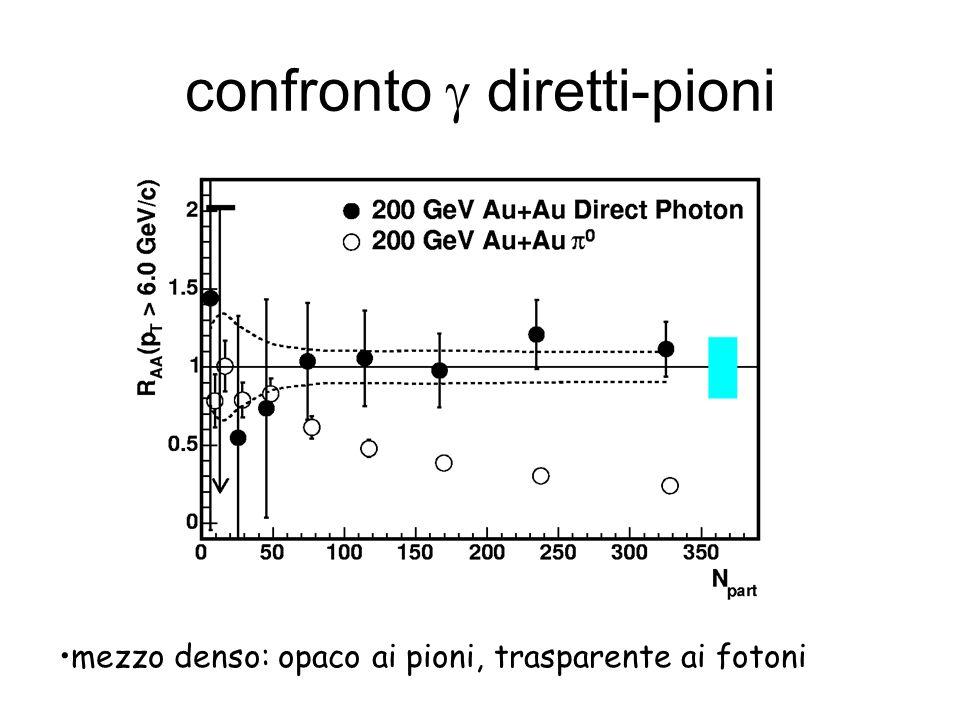 confronto diretti-pioni mezzo denso: opaco ai pioni, trasparente ai fotoni