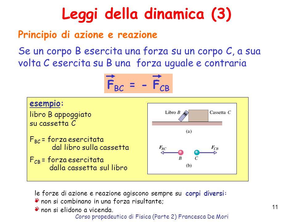 Corso propedeutico di Fisica (Parte 2) Francesca De Mori 10 Problema: un disco di massa 1Kg che scorre su una sup.orizzontale priva dattrito viene col
