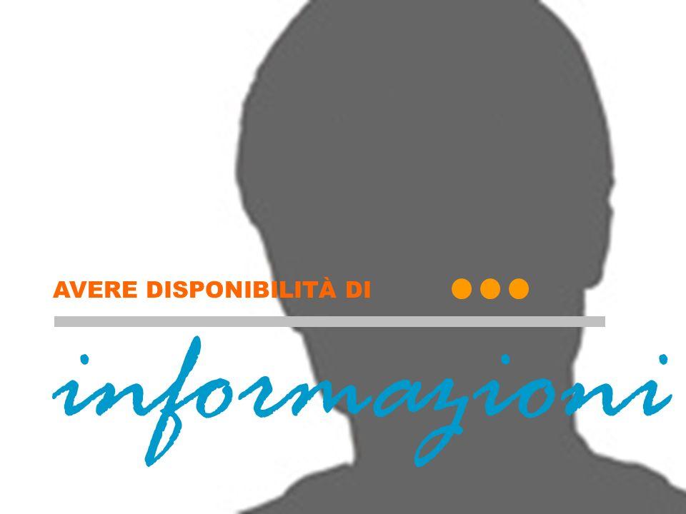 Informazioni (copertina) informazioni AVERE DISPONIBILITÀ DI