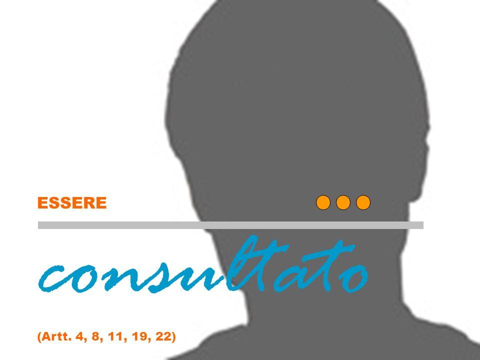 consultato ESSERE (Artt. 4, 8, 11, 19, 22) Essere consultato (copertina)