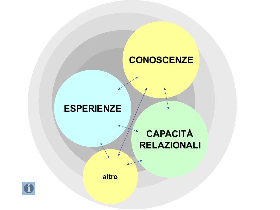 ESPERIENZE CAPACITÀ RELAZIONALI CONOSCENZE altro Brainstorming 2