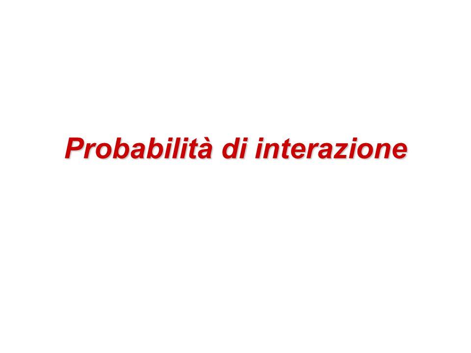 Probabilità di interazione
