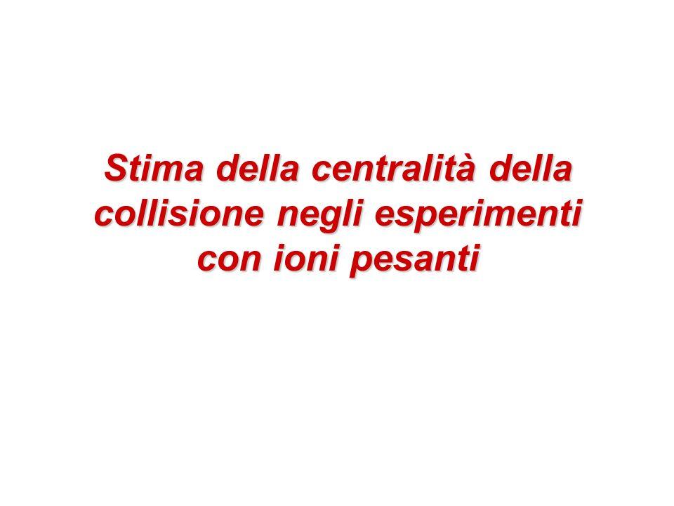 Stima della centralità della collisione negli esperimenti con ioni pesanti