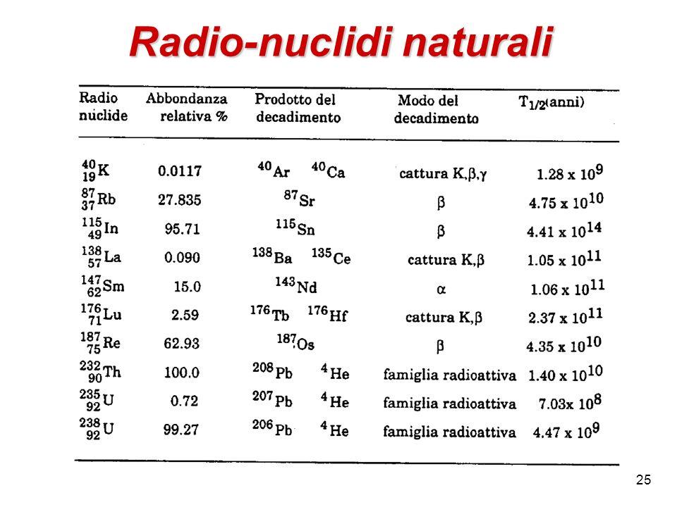 Radio-nuclidi naturali 25