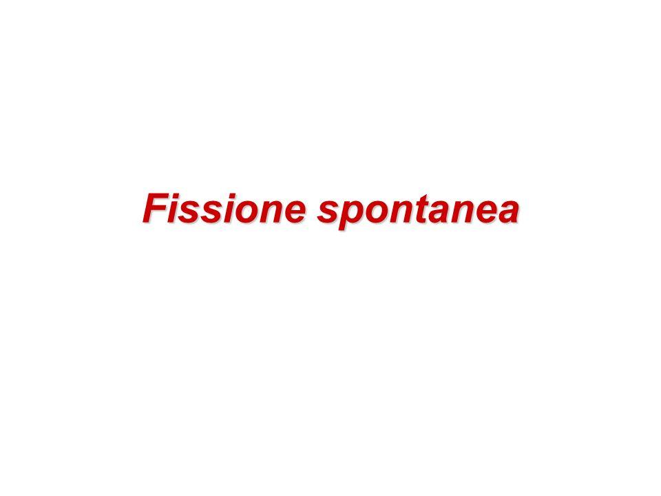 Fissione spontanea