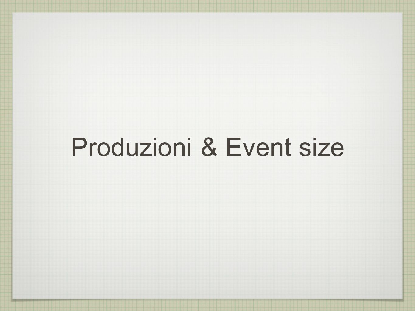 Typical background ProducTion figures Event Size(MB) #Event /1000 Disk space(TB) Rad.