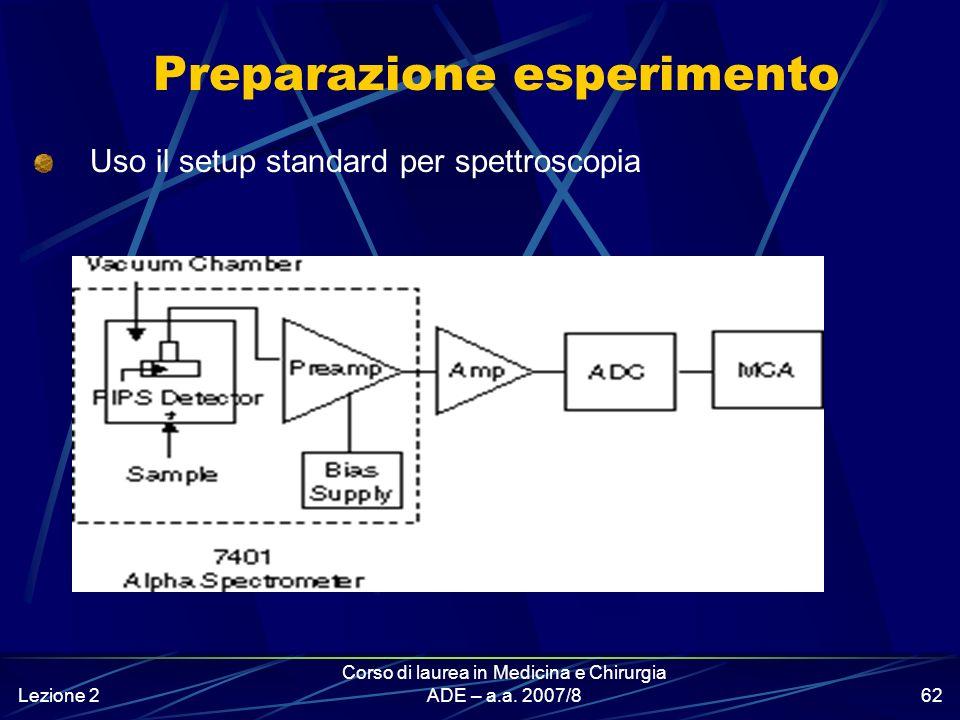 Lezione 2 Corso di laurea in Medicina e Chirurgia ADE – a.a. 2007/861 I rivelatori Hanno aree sensibili di 25-3000 mm 2 Sono alloggiati dentro il modu