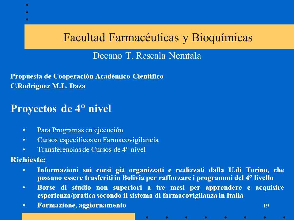 19 Facultad Farmacéuticas y Bioquímicas Decano T.