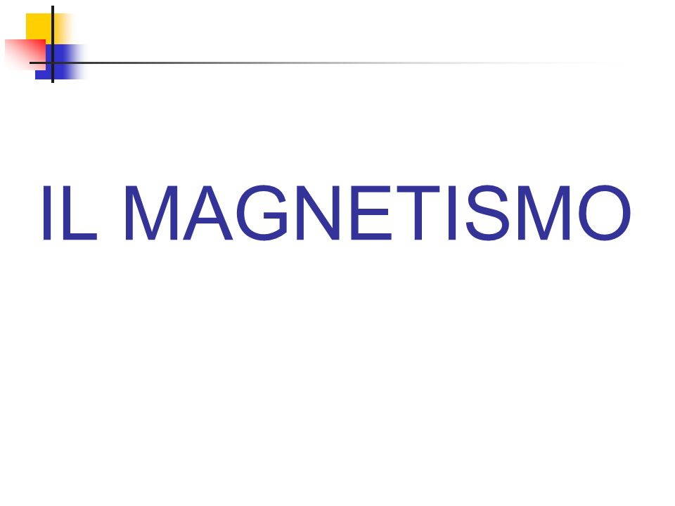 IL MAGNETISMO