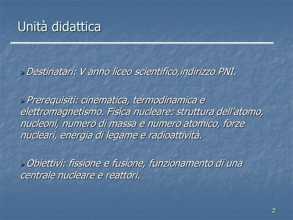 2 Destinatari: V anno liceo scientifico,indirizzo PNI. Destinatari: V anno liceo scientifico,indirizzo PNI. Prerequisiti: cinematica, termodinamica e