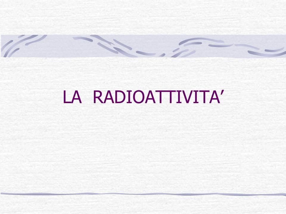 LA RADIOATTIVITA