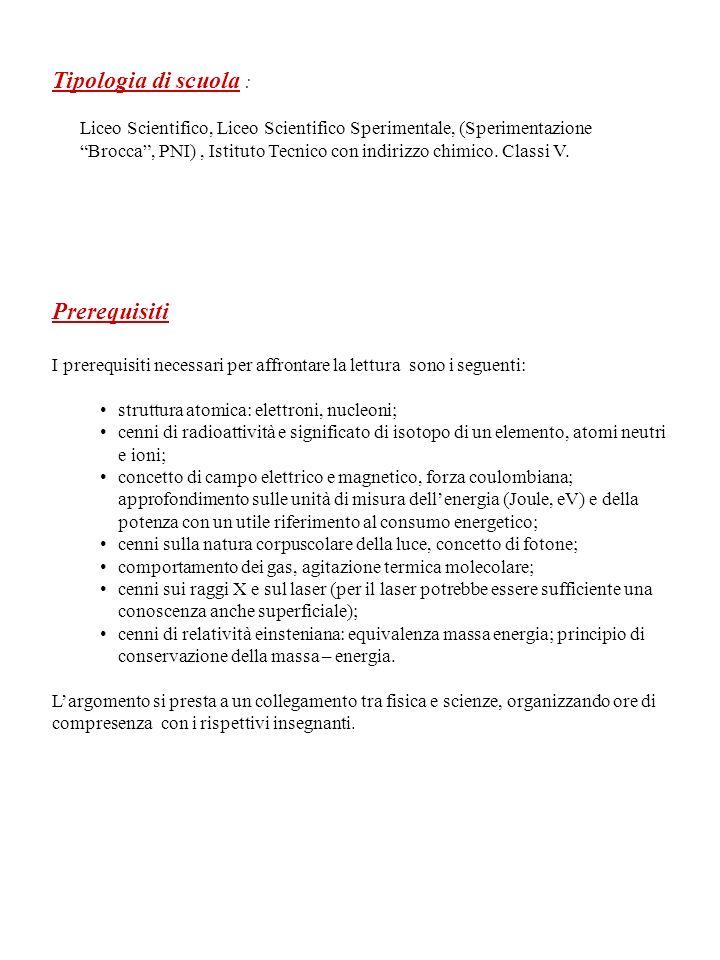 Tipologia di scuola : Liceo Scientifico, Liceo Scientifico Sperimentale, (Sperimentazione Brocca, PNI), Istituto Tecnico con indirizzo chimico.