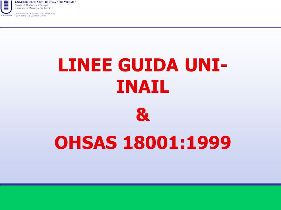 LINEE GUIDA UNI- INAIL & OHSAS 18001:1999