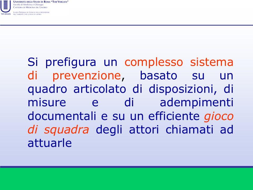 Si prefigura un complesso sistema di prevenzione, basato su un quadro articolato di disposizioni, di misure e di adempimenti documentali e su un effic