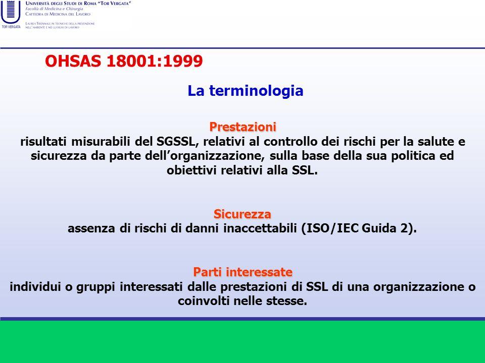 Prestazioni risultati misurabili del SGSSL, relativi al controllo dei rischi per la salute e sicurezza da parte dellorganizzazione, sulla base della s