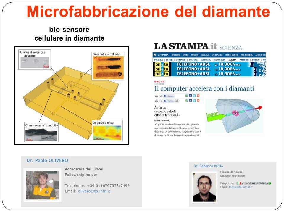Microfabbricazione del diamante bio-sensore cellulare in diamante