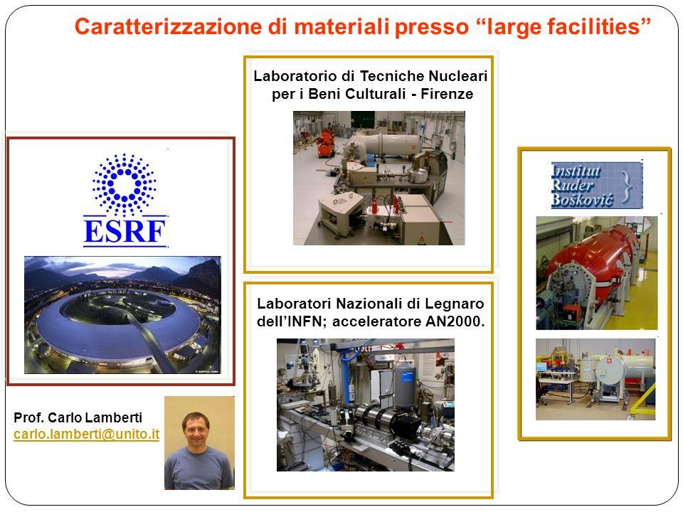 Caratterizzazione di materiali presso large facilities Laboratorio di Tecniche Nucleari per i Beni Culturali - Firenze Laboratori Nazionali di Legnaro