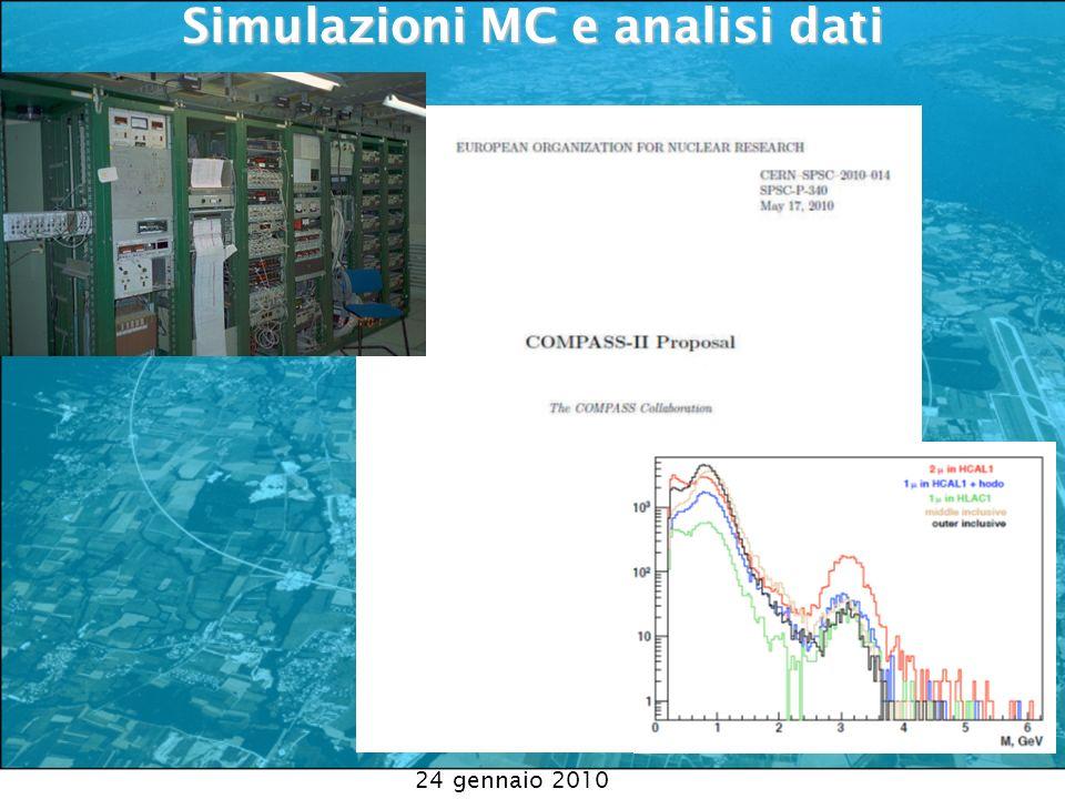 Simulazioni MC e analisi dati Simulazioni MC e analisi dati