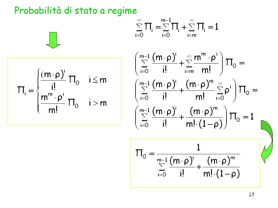 25 Probabilità di stato a regime