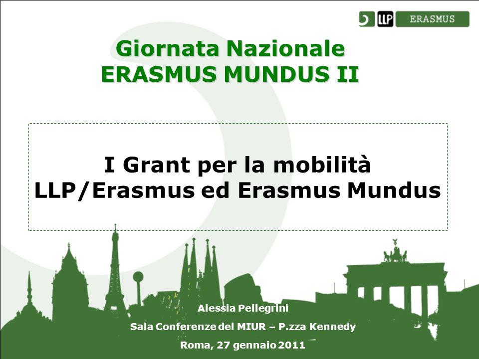 I Grant per la mobilità LLP/Erasmus ed Erasmus Mundus Alessia Pellegrini Sala Conferenze del MIUR – P.zza Kennedy Roma, 27 gennaio 2011 Giornata Nazionale ERASMUS MUNDUS II