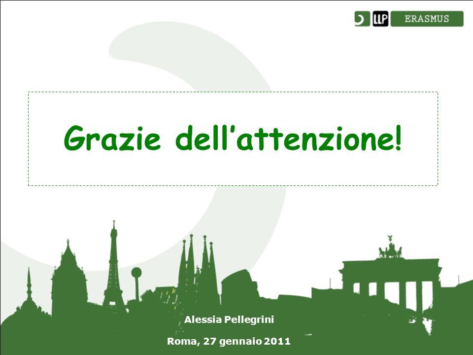 Grazie dellattenzione! Alessia Pellegrini Roma, 27 gennaio 2011
