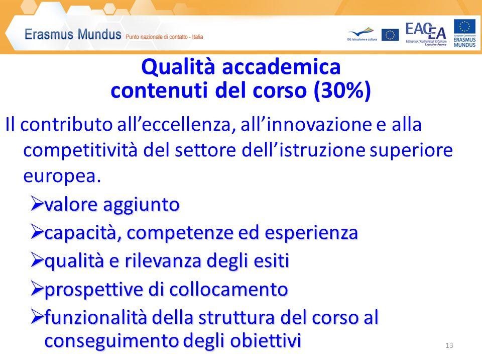Il contributo alleccellenza, allinnovazione e alla competitività del settore dellistruzione superiore europea.