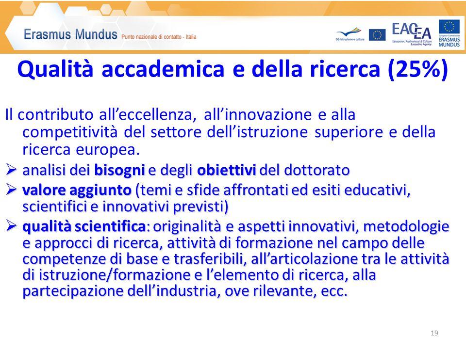Il contributo alleccellenza, allinnovazione e alla competitività del settore dellistruzione superiore e della ricerca europea.
