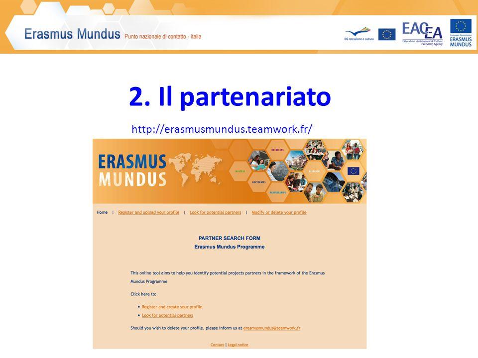 2. Il partenariato http://erasmusmundus.teamwork.fr/