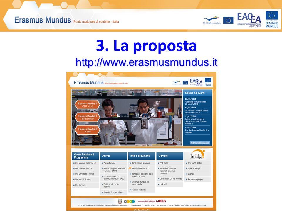 http://www.erasmusmundus.it 3. La proposta http://www.erasmusmundus.it