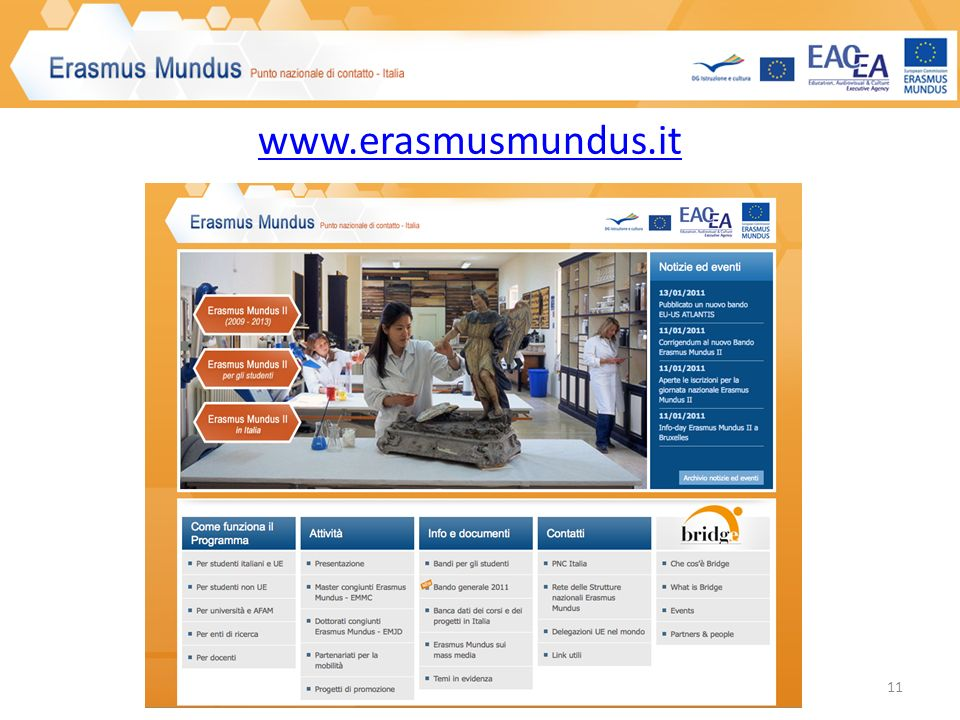 www.erasmusmundus.it 11