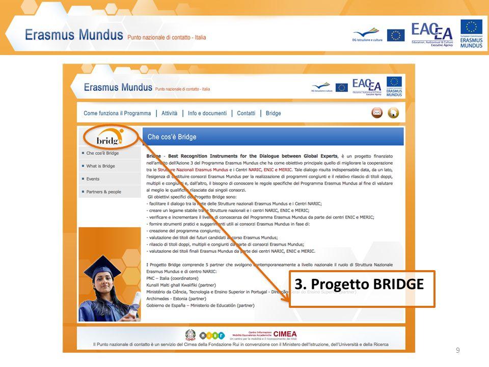 9 3. Progetto BRIDGE