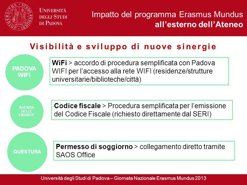 WiFi > accordo di procedura semplificata con Padova WIFI per laccesso alla rete WIFI (residenze/strutture universitarie/biblioteche/città) PADOVA WIFI