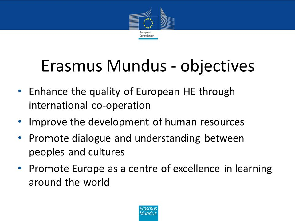 Common & specific elements in the lots Common to all Action 2 lots A range of target groups for mobility A range of duration for mobility Up to 5 levels of higher education covered Project must start operations in year of selection (year n) Mobility may start in different cohorts throughout partnership life Possible joint coordinator role for one of the non-EU partners Specific to individual lots (See Guidelines) Which target groups covered by mobility Which levels of higher education covered Thematic fields of study Partnership composition