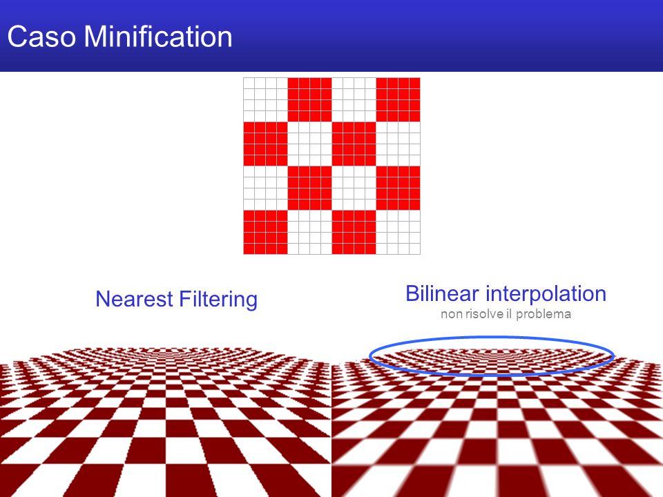 M a r c o T a r i n i C o m p u t e r G r a p h i c s 2 0 0 6 / 0 7 U n i v e r s i t à d e l l I n s u b r i a Caso Minification Nearest Filtering Bilinear interpolation non risolve il problema