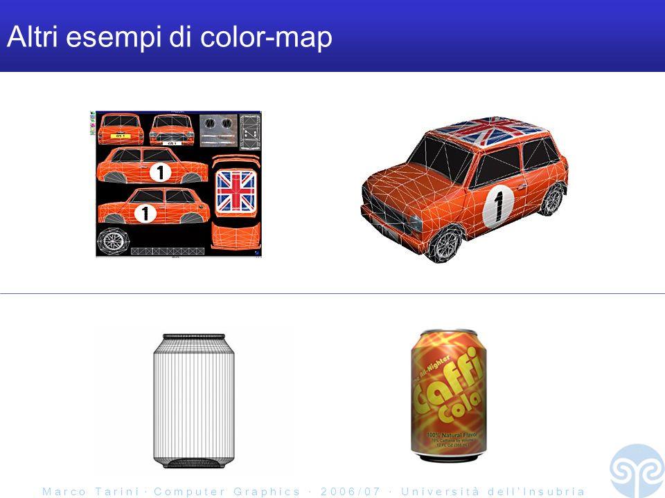 M a r c o T a r i n i C o m p u t e r G r a p h i c s 2 0 0 6 / 0 7 U n i v e r s i t à d e l l I n s u b r i a Altri esempi di color-map