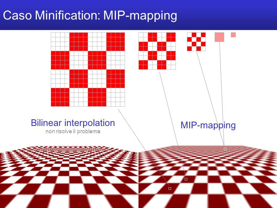 M a r c o T a r i n i C o m p u t e r G r a p h i c s 2 0 0 6 / 0 7 U n i v e r s i t à d e l l I n s u b r i a Caso Minification: MIP-mapping Bilinear interpolation non risolve il problema MIP-mapping