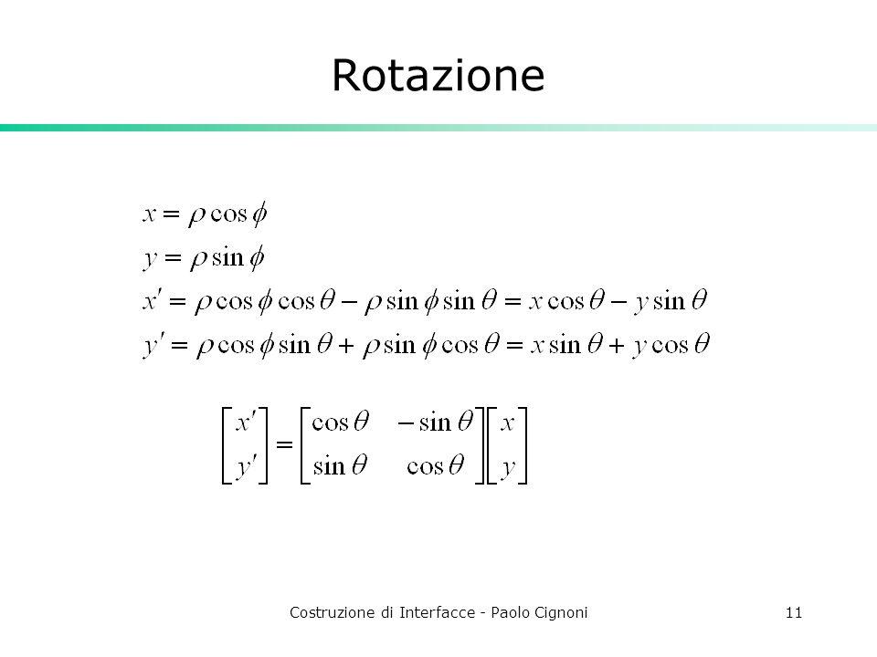 Costruzione di Interfacce - Paolo Cignoni11 Rotazione