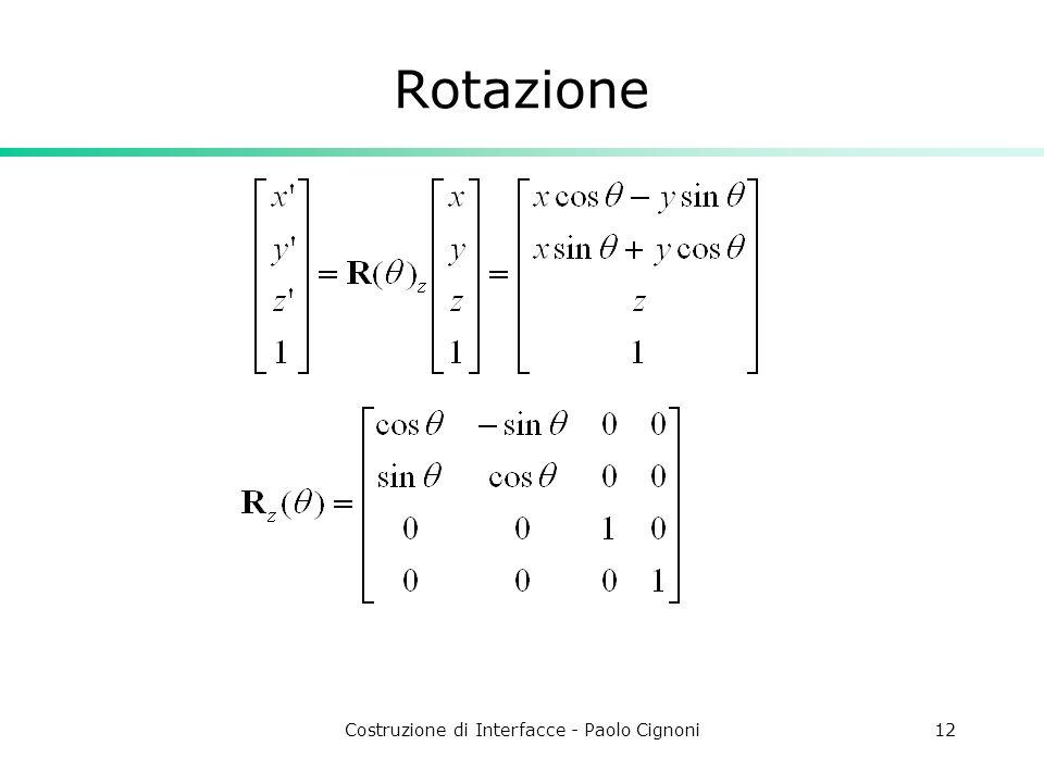 Costruzione di Interfacce - Paolo Cignoni12 Rotazione