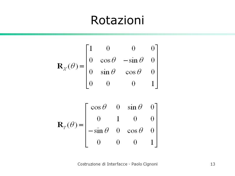 Costruzione di Interfacce - Paolo Cignoni13 Rotazioni