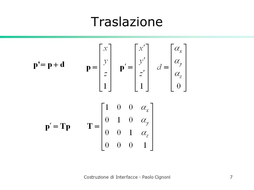 Costruzione di Interfacce - Paolo Cignoni7 Traslazione